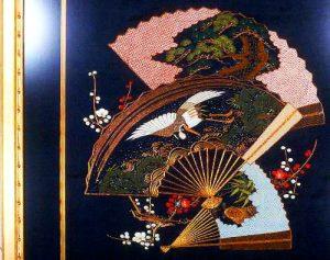 FRAMED ANTIQUE JAPANESE TEXTILES